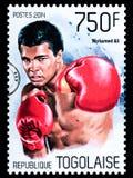 Γραμματόσημο του Muhammad Ali στοκ φωτογραφίες με δικαίωμα ελεύθερης χρήσης