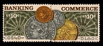 γραμματόσημο τραπεζικού &eps Στοκ εικόνες με δικαίωμα ελεύθερης χρήσης