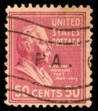 Γραμματόσημο τυπώνω στις Ηνωμένες Πολιτείες Επιδείξεις William Howard Taft Στοκ Φωτογραφίες