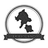 Γραμματόσημο χαρτών νησιών Aka Διανυσματική απεικόνιση