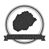 Γραμματόσημο χαρτών Alegranza ελεύθερη απεικόνιση δικαιώματος