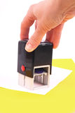 γραμματόσημο χεριών εγγρά&phi Στοκ εικόνα με δικαίωμα ελεύθερης χρήσης