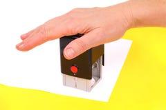 γραμματόσημο χεριών εγγρά&phi Στοκ Φωτογραφία