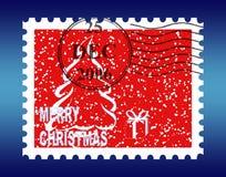 γραμματόσημο Χριστουγέννων διανυσματική απεικόνιση