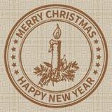 Γραμματόσημο Χριστουγέννων Στοκ εικόνα με δικαίωμα ελεύθερης χρήσης
