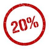 20% γραμματόσημο απεικόνιση αποθεμάτων
