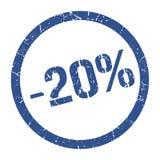-20% γραμματόσημο διανυσματική απεικόνιση