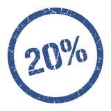 20% γραμματόσημο ελεύθερη απεικόνιση δικαιώματος
