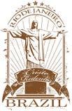 γραμματόσημο de janeiro Ρίο Στοκ Εικόνες