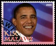 Γραμματόσημο Obama Barack από το Μαλάουι Στοκ φωτογραφία με δικαίωμα ελεύθερης χρήσης