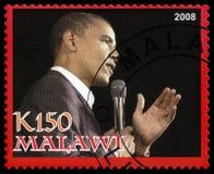 Γραμματόσημο Obama Barack από το Μαλάουι Στοκ Εικόνα