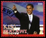 Γραμματόσημο Obama Barack από το Μαλάουι Στοκ Εικόνες