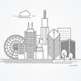 Γραμμική απεικόνιση του Σικάγου, ΗΠΑ Στοκ φωτογραφίες με δικαίωμα ελεύθερης χρήσης