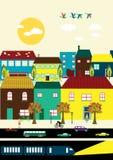 Γραμμική πόλη Στοκ εικόνες με δικαίωμα ελεύθερης χρήσης