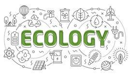 Γραμμική φωτογραφική διαφάνεια απεικόνισης για την οικολογία παρουσίασης διανυσματική απεικόνιση