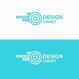 Γραμμικός κομήτης λογότυπων Σημάδι για την επιχείρηση μεταφορών ελεύθερη απεικόνιση δικαιώματος