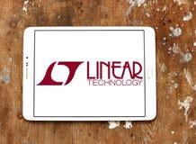 Γραμμικό λογότυπο επιχείρησης τεχνολογίας στοκ εικόνες