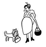 Γραμμικό σκίτσο μόδας κωμικό Στοκ φωτογραφία με δικαίωμα ελεύθερης χρήσης