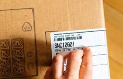 Γραμμωτός κώδικας επιθεώρησης ατόμων APC έξυπνος-UPS SMC 1000VA Στοκ φωτογραφία με δικαίωμα ελεύθερης χρήσης