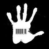 γραμμωτός κώδικας handprint Στοκ φωτογραφίες με δικαίωμα ελεύθερης χρήσης