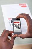 Γραμμωτός κώδικας ανίχνευσης προσώπων Στοκ Εικόνες