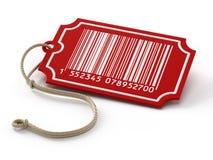 Γραμμωτός κώδικας στην ετικέττα πώλησης ελεύθερη απεικόνιση δικαιώματος
