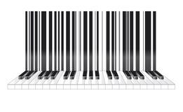 Γραμμωτός κώδικας στο μουσικό ύφος Στοκ Εικόνες