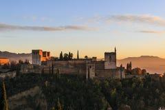 Γρανάδα España Πανοραμική άποψη Alhambra στη Γρανάδα, Ανδαλουσία, Ισπανία στοκ εικόνες
