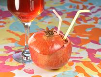 Γρανάτης και κρασί Στοκ φωτογραφία με δικαίωμα ελεύθερης χρήσης
