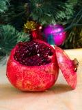 Γρανάτης και χριστουγεννιάτικο δέντρο Στοκ Φωτογραφίες