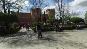 Γρανάδα, Ανδαλουσία, Ισπανία - 17 Απριλίου 2016: Alhambra, παλάτι του Charles Β φιλμ μικρού μήκους