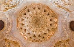 Γρανάδα - ο θόλος της αίθουσας Abencerrajes στοκ φωτογραφία