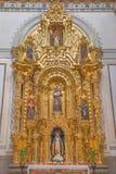 Γρανάδα - ο μπαρόκ δευτερεύων βωμός Αγίου Anthony της Πάδοβας στην εκκλησία Iglesia de SAN Anton Στοκ φωτογραφία με δικαίωμα ελεύθερης χρήσης