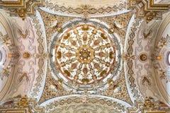 Γρανάδα - ο μπαρόκ θόλος στην εκκλησία Iglesia de SAN Anton από το Alfonso Castillo από 18 σεντ Στοκ εικόνες με δικαίωμα ελεύθερης χρήσης