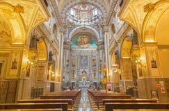 Γρανάδα - ο μπαρόκ σηκός της εκκλησίας Iglesia de SAN Anton Στοκ εικόνα με δικαίωμα ελεύθερης χρήσης