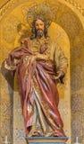 Γρανάδα - το χαρασμένο άγαλμα η καρδιά του Ιησούς Χριστού σε Iglesia de SAN Anton Στοκ Φωτογραφίες