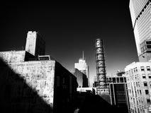 γραπτά κτήρια σκηνής πόλεων Στοκ Φωτογραφίες