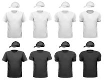 Γραπτά μπλούζα και φλυτζάνι ατόμων. Στοκ εικόνα με δικαίωμα ελεύθερης χρήσης