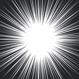 Γραπτές ακτινωτές γραμμές ταχύτητας κόμικς Στοκ Φωτογραφία