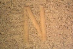 Γραπτές επιστολές αλφάβητου στον καφέ στοκ εικόνες