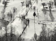 Γραπτές σκιές Στοκ Εικόνες