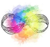 Γραπτή απεικόνιση του σημαδιού της αιωνιότητας απεικόνιση αποθεμάτων