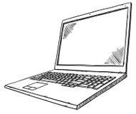Γραπτή απεικόνιση ύφους doodle του σημειωματάριου στο άσπρο υπόβαθρο Στοκ Φωτογραφίες