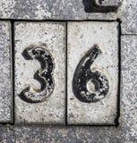 Γραπτή διατύπωση στο στενοχωρημένο κρατικό τυπογραφία αριθμό τριάντα έξι 36 στοκ φωτογραφίες με δικαίωμα ελεύθερης χρήσης