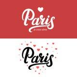 Γραπτή εγγραφή καλλιγραφίας του Παρισιού χέρι Στοκ εικόνες με δικαίωμα ελεύθερης χρήσης