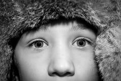 Γραπτή εικόνα ματιών παιδιών Στοκ εικόνα με δικαίωμα ελεύθερης χρήσης
