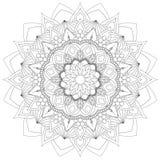 Γραπτή καλή διάθεση σχεδίων Mandala περίπλοκη διανυσματική απεικόνιση