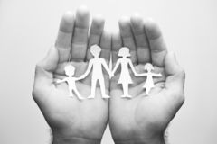 Φροντίδα για την οικογένειά σας στοκ εικόνα