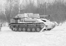 Γραπτή, ρωσική δεξαμενή του δεύτερου παγκόσμιου πολέμου Στοκ Εικόνες