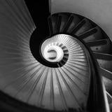 Γραπτή σκάλα στο φάρο Στοκ φωτογραφία με δικαίωμα ελεύθερης χρήσης